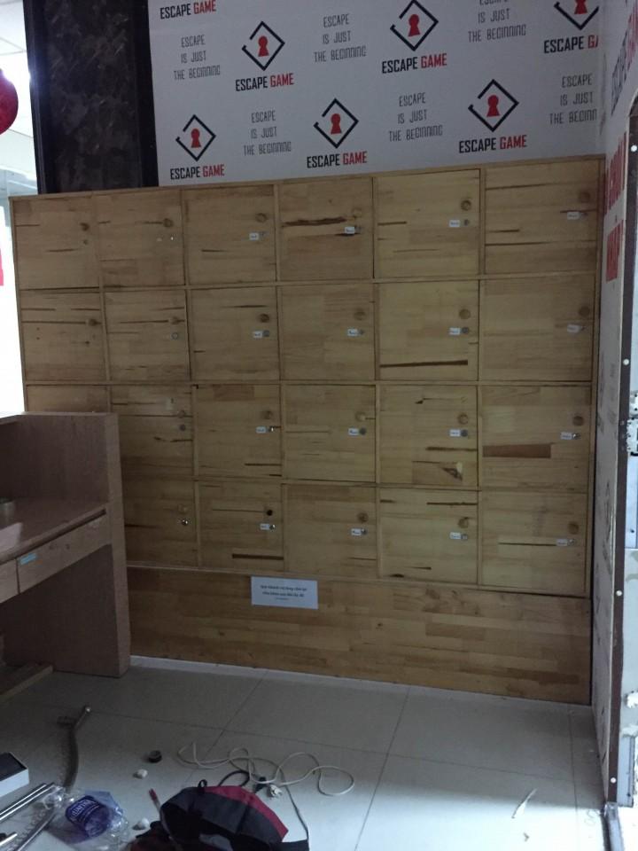 Thanh lý tủ locker gỗ ghép 24 hộc, tủ locker 24 hộc