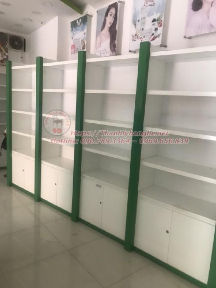 Thanh lý kệ trưng bày sản phẩm cũ giá rẻ