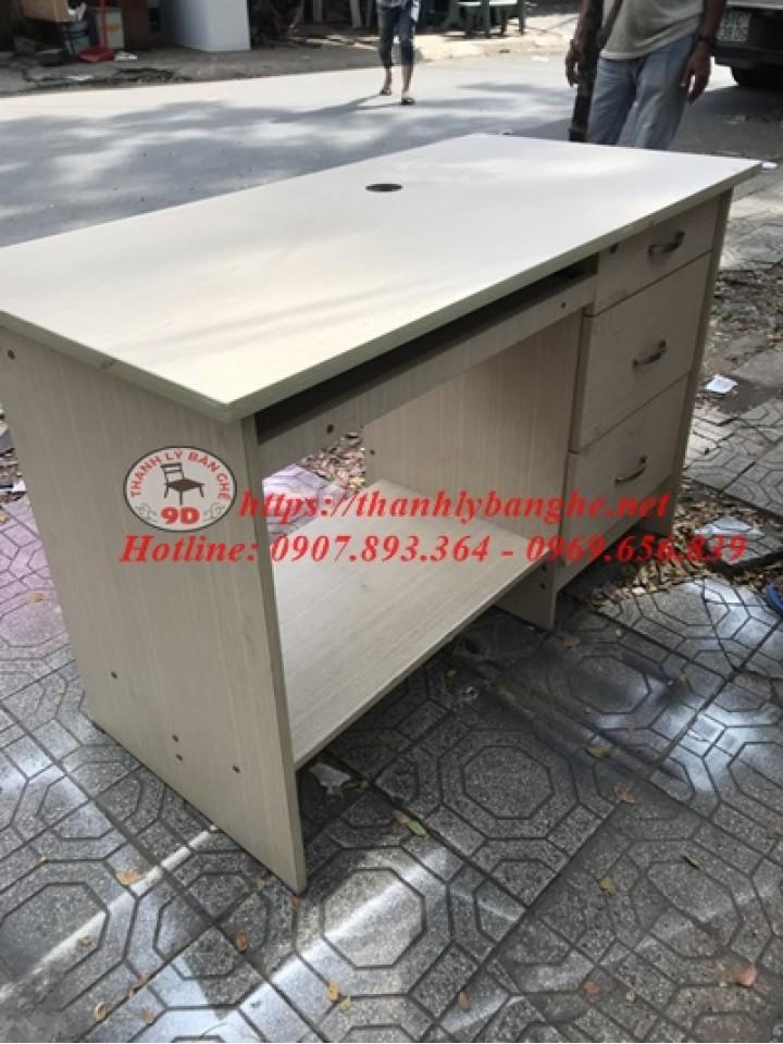 Thanh lý bàn làm việc nhân viên 3 hộc cũ MS782