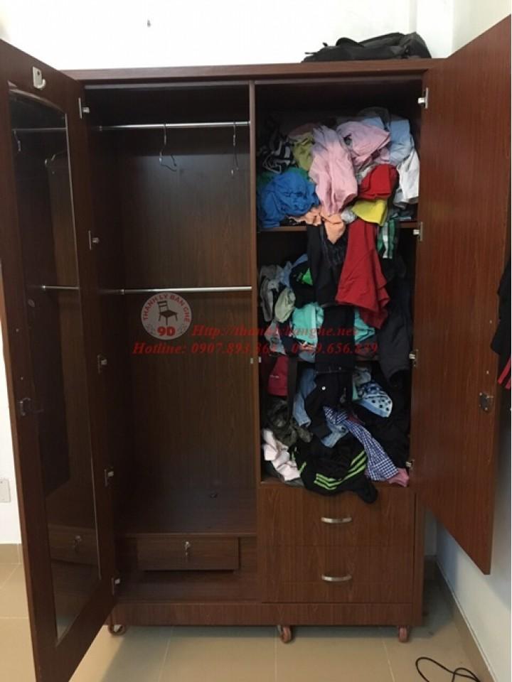 Thanh lý tủ quần áo cũ 1m2x2m2 giá rẻ