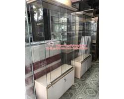 Thanh lý tủ kệ kính trưng bày cũ giá rẻ