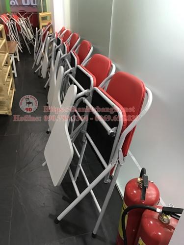 Thanh lý 25 ghế xếp liền bàn lưng cao cũ ms878