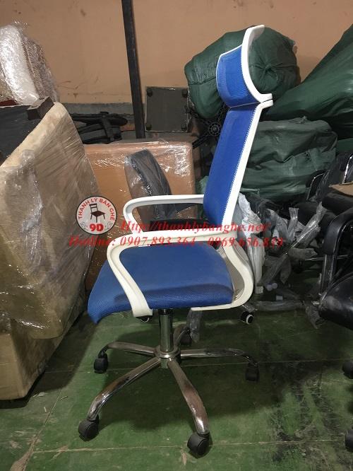 Thanh lý ghế xoay  lưới có tay vịn