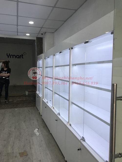 Tủ kính trưng bày chống ẩm có đèn led