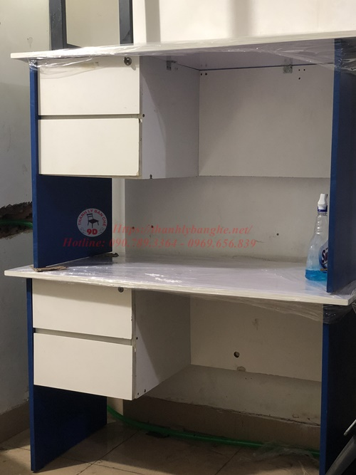 Thanh lý bàn làm việc nhân viên 2 hộc tủ khoá MS817