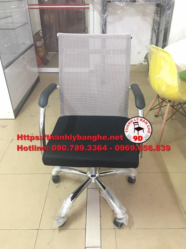 Thanh lý 20 ghế xoay lưới lưng trung cũ giá rẻ MS799