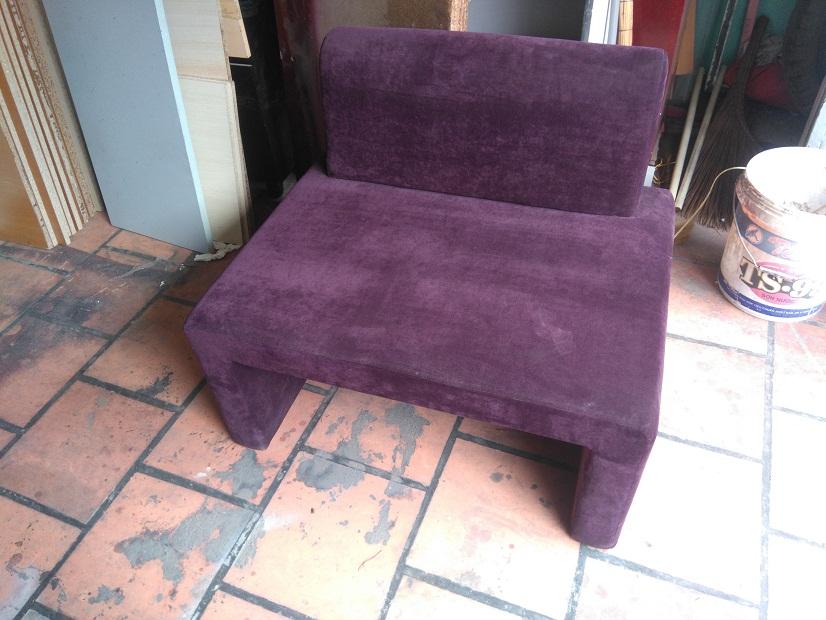 sofa cafe vải nhung cũ