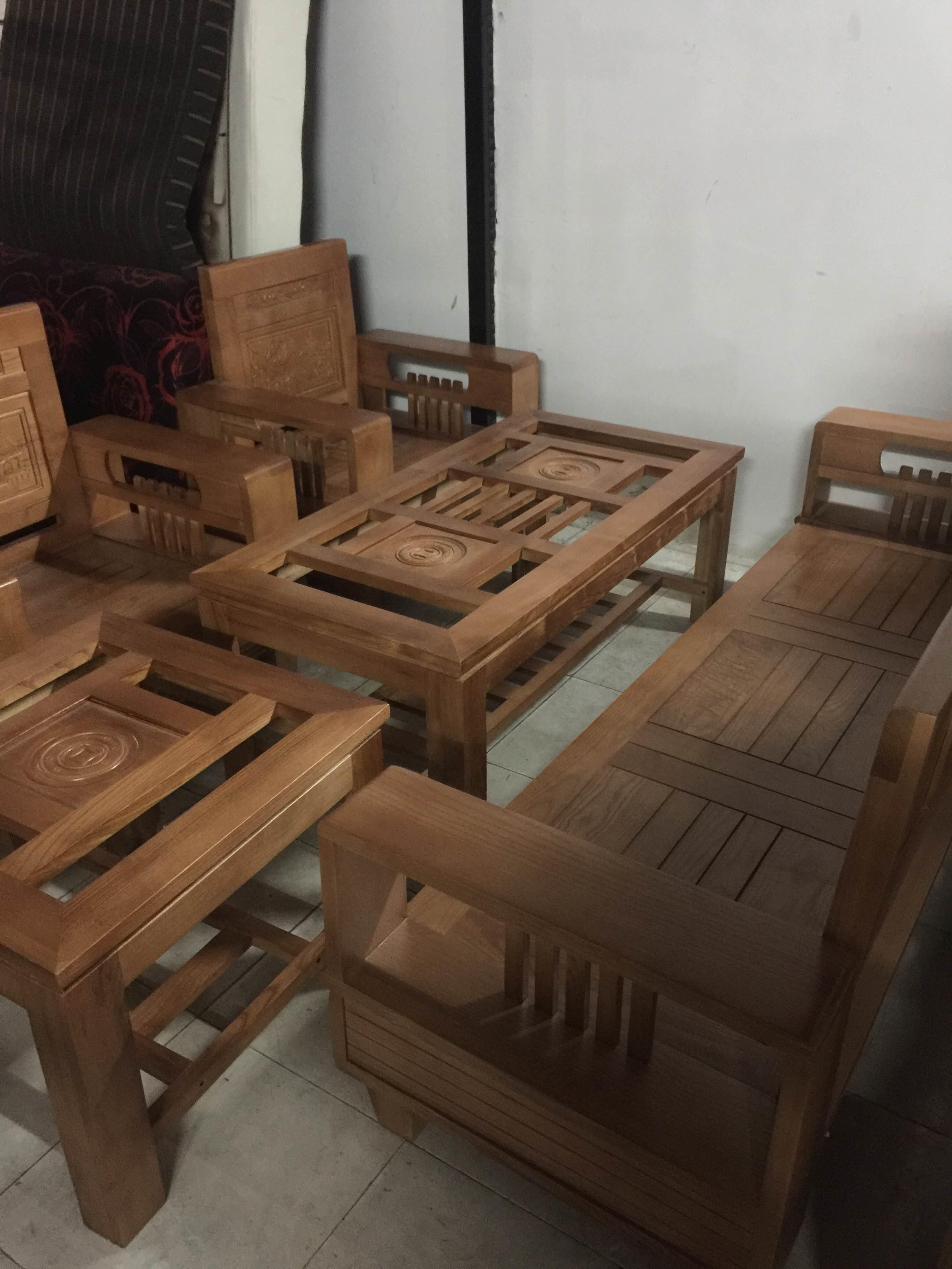 Bộ Salon gỗ sồi Nga, hàng mới 100%
