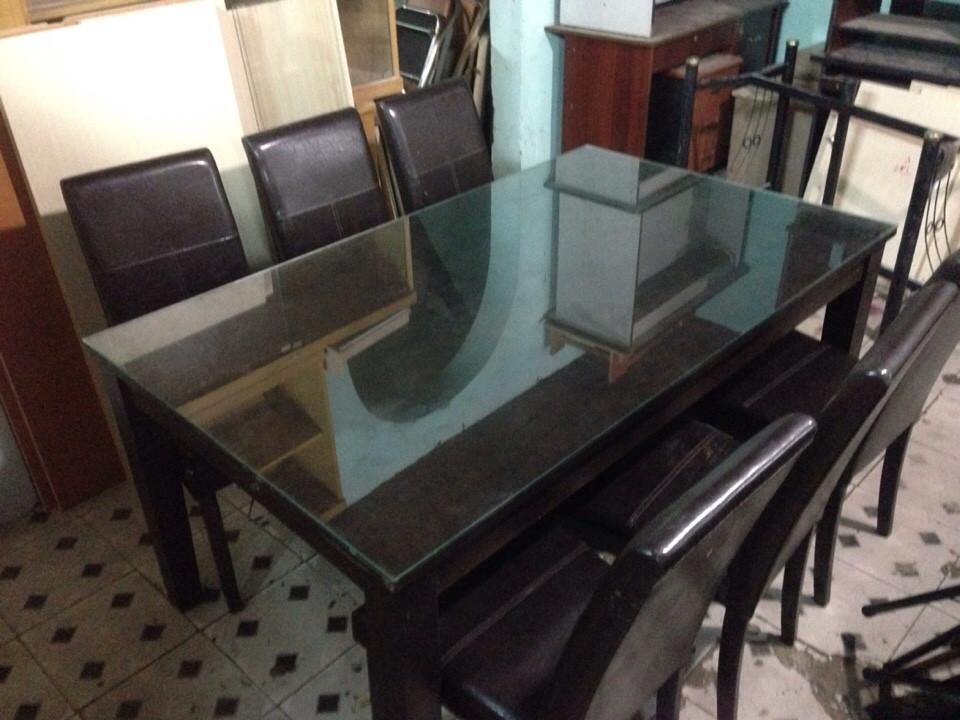 bộ bàn ăn 6 ghế cũ