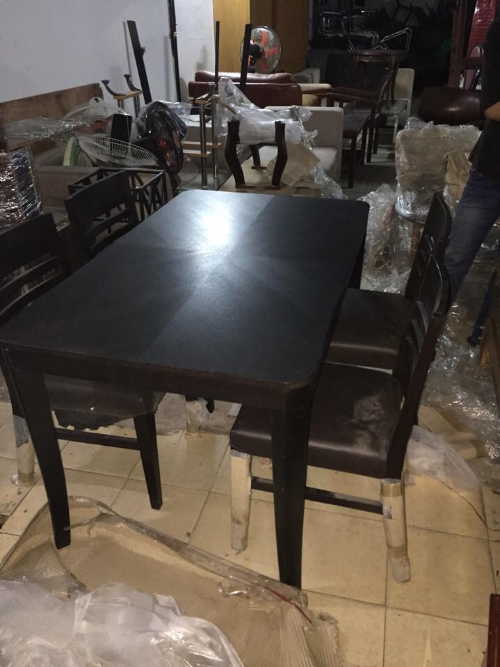 bộ bàn ăn 4 ghế cũ