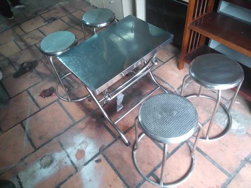 thanh lý bàn ghế inox quán ăn cũ