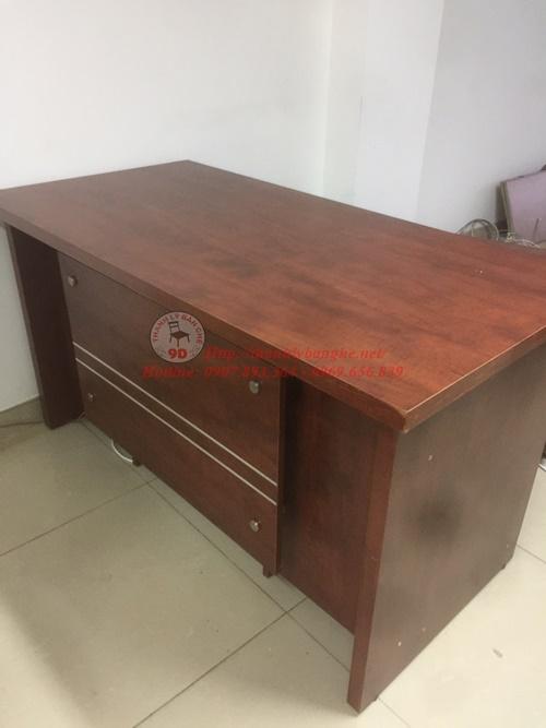 Thanh lý bàn làm việc trưởng phòng cũ 1m4 giá rẻ