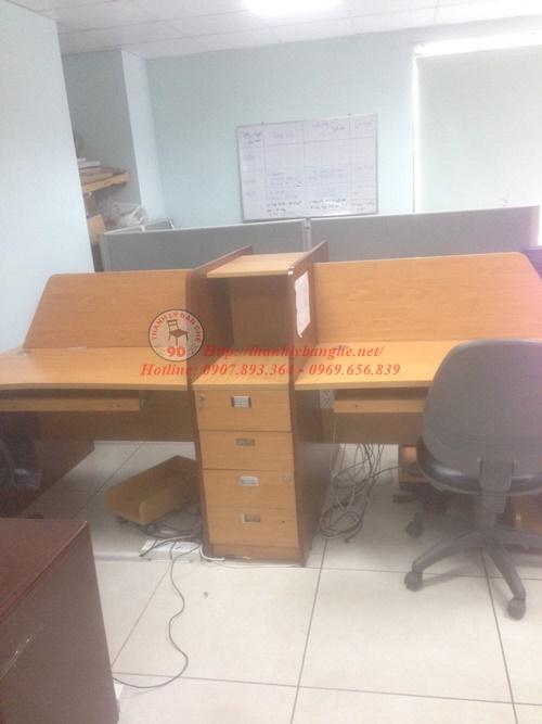 Thanh lý cụm bàn làm việc nhân viên cũ 4 người