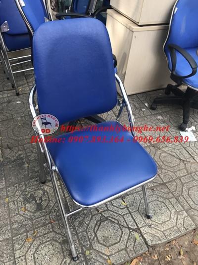 Thanh lý ghế xếp chân inox cũ