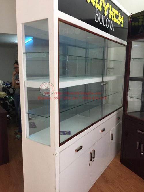 Thanh lý tủ kiếng trưng bày MDF chống ẩm 2m