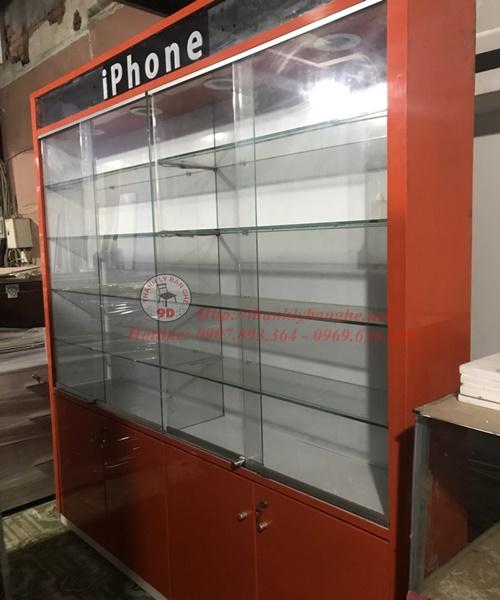 Thanh lý tủ kính 1m8x2m2 cũ giá rẻ tại TpHCM