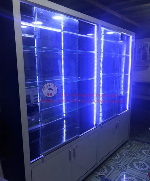 thanh lý tủ kính trưng bày sản phẩm cũ 791