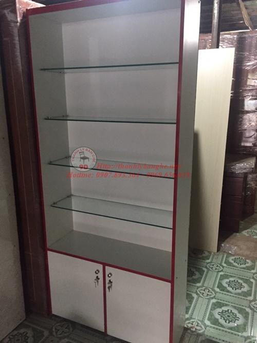 Thanh lý tủ kính (kiếng) trưng bày mới 95% giá rẻ