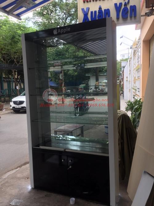 thanh lý tủ kiếng trưng bày điện thoại