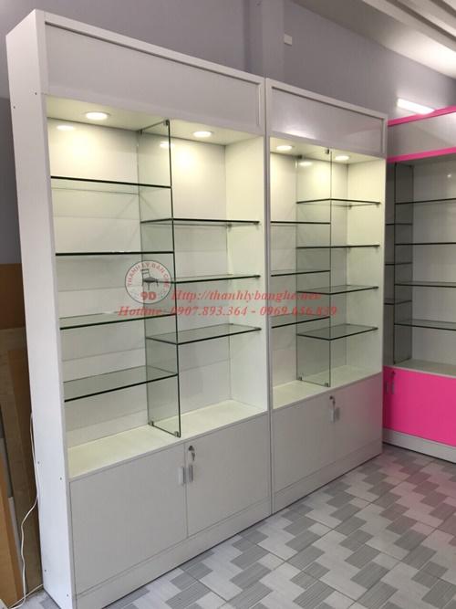 tủ kiếng trưng bày kính tầng