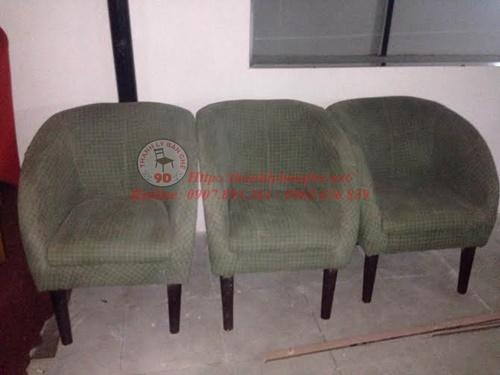 sofa cafe chân gỗ cũ