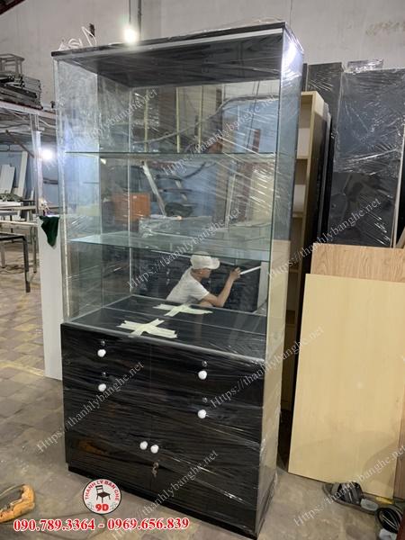 Thanh lý tủ kệ kính trưng bày cũ giá rẻ MS967