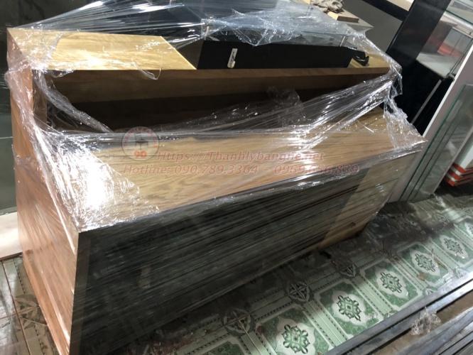 Thanh lý quầy văn phòng, quầy lễ tân cũ giá rẻ MS845