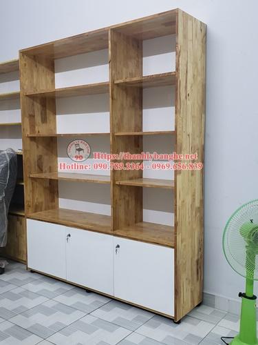 tủ trưng bày gỗ ghép giá rẻ