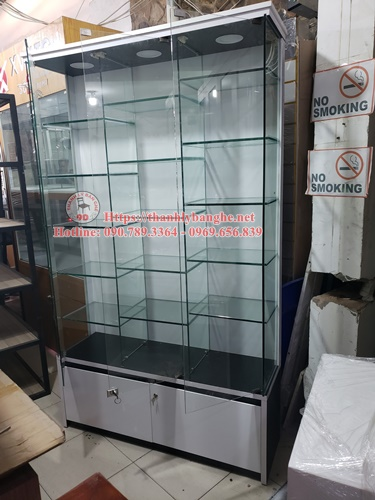 Thanh lý kệ tầng kính trưng bày cũ giá rẻ MS913