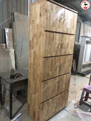 Thanh lý tủ locker bằng gỗ tư nhiên chống nước MS918